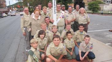 Peace Pole Dedication, Tamaqua Boy Scout, Train Station lot, Tamaqua, 9-21-2015 (22)