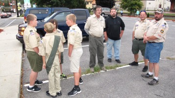 Peace Pole Dedication, Tamaqua Boy Scout, Train Station lot, Tamaqua, 9-21-2015 (6)