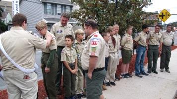 Peace Pole Dedication, Tamaqua Boy Scout, Train Station lot, Tamaqua, 9-21-2015 (8)