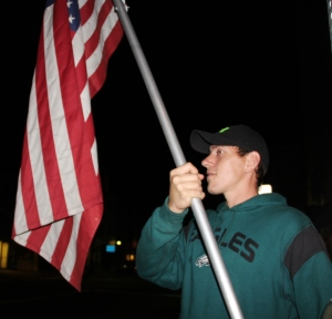 Placing American Flags, Tamaqua Rescue Squad, Tamaqua, 11-5-2015 (3)