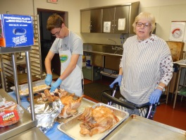 Preparing 25 Thanksgiving Day Turkeys, Salvation Army, Tamaqua, 11-23-2015 (3)