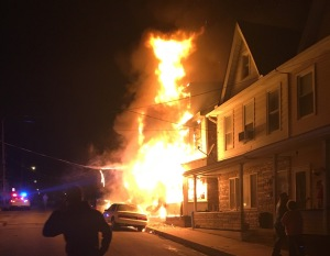 Row Home Fire, 100 Block of Orwigsburg Street, Tamaqua, 11-21-2015