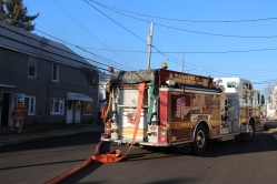 Row Home Fire, 200 block of West Sherman Street, McAdoo, 11-25-2015 (1)