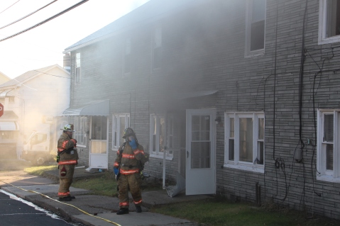 Row Home Fire, 200 block of West Sherman Street, McAdoo, 11-25-2015 (14)