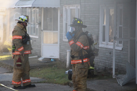 Row Home Fire, 200 block of West Sherman Street, McAdoo, 11-25-2015 (15)