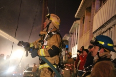 Row Home Fire, Blaze, 100 Block of Orwigsburg Street, Tamaqua, 11-21-2015 (104)