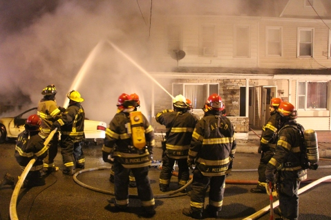 Row Home Fire, Blaze, 100 Block of Orwigsburg Street, Tamaqua, 11-21-2015 (108)