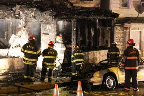 Row Home Fire, Blaze, 100 Block of Orwigsburg Street, Tamaqua, 11-21-2015 (119)
