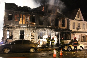Row Home Fire, Blaze, 100 Block of Orwigsburg Street, Tamaqua, 11-21-2015 (120)