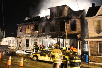 Row Home Fire, Blaze, 100 Block of Orwigsburg Street, Tamaqua, 11-21-2015 (121)