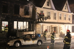 Row Home Fire, Blaze, 100 Block of Orwigsburg Street, Tamaqua, 11-21-2015 (124)