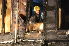 Row Home Fire, Blaze, 100 Block of Orwigsburg Street, Tamaqua, 11-21-2015 (136)