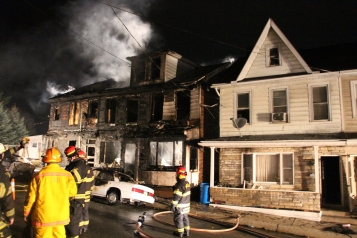 Row Home Fire, Blaze, 100 Block of Orwigsburg Street, Tamaqua, 11-21-2015 (143)