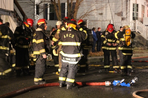 Row Home Fire, Blaze, 100 Block of Orwigsburg Street, Tamaqua, 11-21-2015 (144)