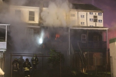 Row Home Fire, Blaze, 100 Block of Orwigsburg Street, Tamaqua, 11-21-2015 (15)