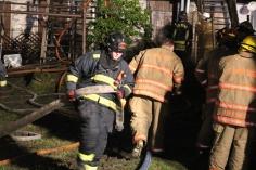 Row Home Fire, Blaze, 100 Block of Orwigsburg Street, Tamaqua, 11-21-2015 (150)