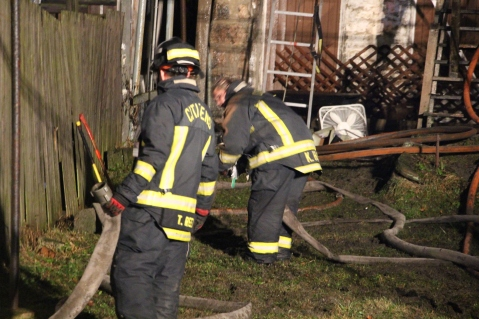 Row Home Fire, Blaze, 100 Block of Orwigsburg Street, Tamaqua, 11-21-2015 (152)