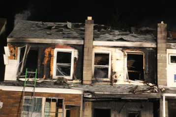 Row Home Fire, Blaze, 100 Block of Orwigsburg Street, Tamaqua, 11-21-2015 (153)