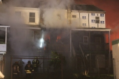 Row Home Fire, Blaze, 100 Block of Orwigsburg Street, Tamaqua, 11-21-2015 (16)