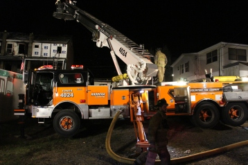Row Home Fire, Blaze, 100 Block of Orwigsburg Street, Tamaqua, 11-21-2015 (164)