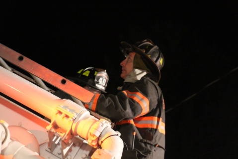 Row Home Fire, Blaze, 100 Block of Orwigsburg Street, Tamaqua, 11-21-2015 (177)
