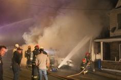 Row Home Fire, Blaze, 100 Block of Orwigsburg Street, Tamaqua, 11-21-2015 (19)