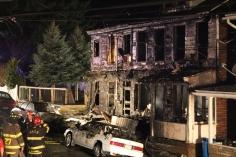 Row Home Fire, Blaze, 100 Block of Orwigsburg Street, Tamaqua, 11-21-2015 (200)