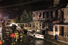 Row Home Fire, Blaze, 100 Block of Orwigsburg Street, Tamaqua, 11-21-2015 (201)