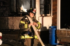 Row Home Fire, Blaze, 100 Block of Orwigsburg Street, Tamaqua, 11-21-2015 (203)