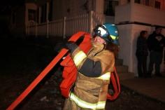 Row Home Fire, Blaze, 100 Block of Orwigsburg Street, Tamaqua, 11-21-2015 (206)