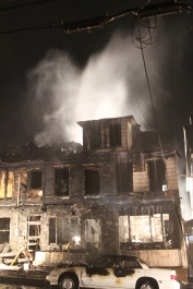Row Home Fire, Blaze, 100 Block of Orwigsburg Street, Tamaqua, 11-21-2015 (211)