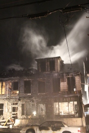 Row Home Fire, Blaze, 100 Block of Orwigsburg Street, Tamaqua, 11-21-2015 (213)