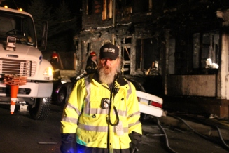 Row Home Fire, Blaze, 100 Block of Orwigsburg Street, Tamaqua, 11-21-2015 (223)