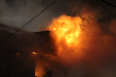 Row Home Fire, Blaze, 100 Block of Orwigsburg Street, Tamaqua, 11-21-2015 (24)