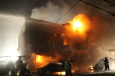 Row Home Fire, Blaze, 100 Block of Orwigsburg Street, Tamaqua, 11-21-2015 (28)
