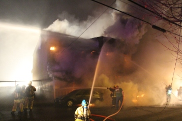 Row Home Fire, Blaze, 100 Block of Orwigsburg Street, Tamaqua, 11-21-2015 (32)