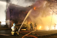 Row Home Fire, Blaze, 100 Block of Orwigsburg Street, Tamaqua, 11-21-2015 (49)