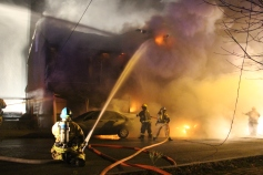 Row Home Fire, Blaze, 100 Block of Orwigsburg Street, Tamaqua, 11-21-2015 (50)
