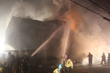 Row Home Fire, Blaze, 100 Block of Orwigsburg Street, Tamaqua, 11-21-2015 (65)