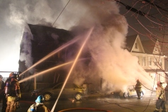 Row Home Fire, Blaze, 100 Block of Orwigsburg Street, Tamaqua, 11-21-2015 (70)