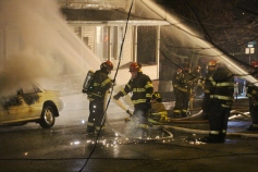 Row Home Fire, Blaze, 100 Block of Orwigsburg Street, Tamaqua, 11-21-2015 (82)