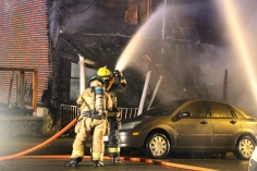 Row Home Fire, Blaze, 100 Block of Orwigsburg Street, Tamaqua, 11-21-2015 (85)