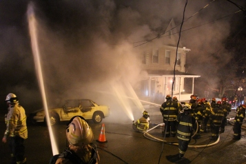 Row Home Fire, Blaze, 100 Block of Orwigsburg Street, Tamaqua, 11-21-2015 (88)