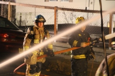 Row Home Fire, Blaze, 100 Block of Orwigsburg Street, Tamaqua, 11-21-2015 (93)