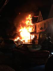 Row Home Fire, Blaze, 100 Block of Orwigsburg, via Debbie Huegel, Tamaqua, 11-21-2015 (1)