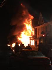 Row Home Fire, Blaze, 100 Block of Orwigsburg, via Debbie Huegel, Tamaqua, 11-21-2015 (2)