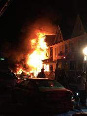 Row Home Fire, Blaze, 100 Block of Orwigsburg, via Debbie Huegel, Tamaqua, 11-21-2015 (3)