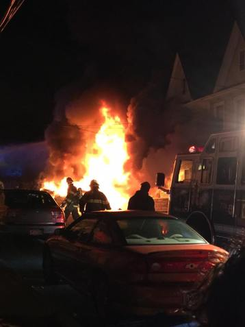Row Home Fire, Blaze, 100 Block of Orwigsburg, via Debbie Huegel, Tamaqua, 11-21-2015 (5)