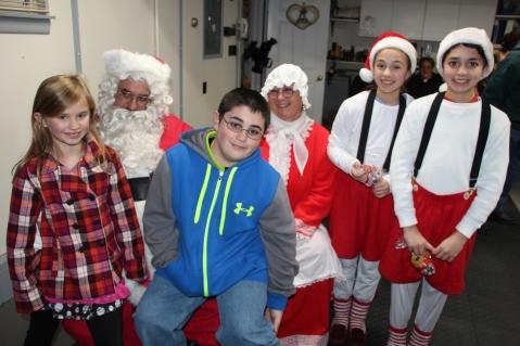 Santa Gathering, after Parade, Frank Fabrizio's House, in Brockton, 11-28-2015 (1)