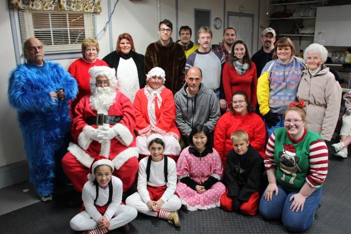 Santa Gathering, after Parade, Frank Fabrizio's House, in Brockton, 11-28-2015 (60)